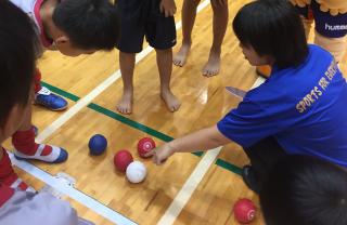 障がい者スポーツ体験(ボッチャ教室)