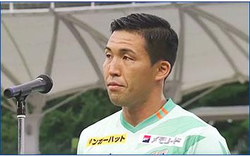 徳重健太選手による平和宣言