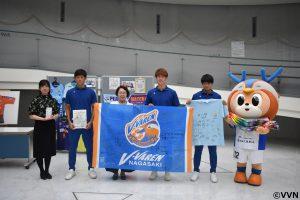 毎熊晟矢選手、氣田亮真選手、植中朝日選手が長崎原爆資料館を訪問しました。
