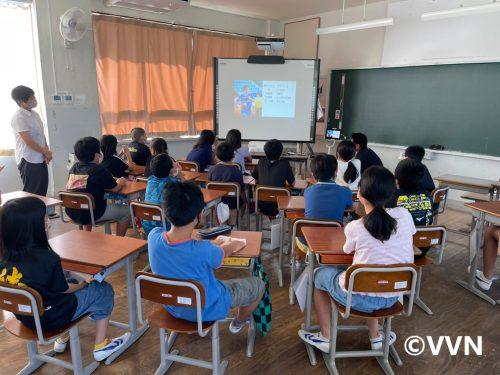 【ホームタウン】五島市立三井楽小学校でV-DREAMを行いました(9/27) サムネイル